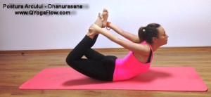 yoga, hatha yoga, yoga bucuresti, Dhanurasana - postura arcului www.QYogaFlow.com