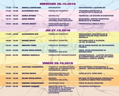 Festivalul de spiritualitate; A noua dimensiune; spiritualitate, Yoga, Conferinte gratuite, 26-30 Octombrie 2016
