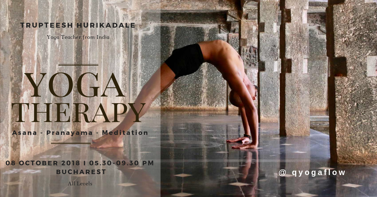 Yoga Therapy Workshop with Yogi Trupteesh from India